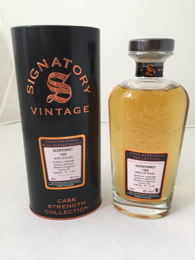 Glenturret 1988 SV 29 years  49,1% only cask 530 195 bottles